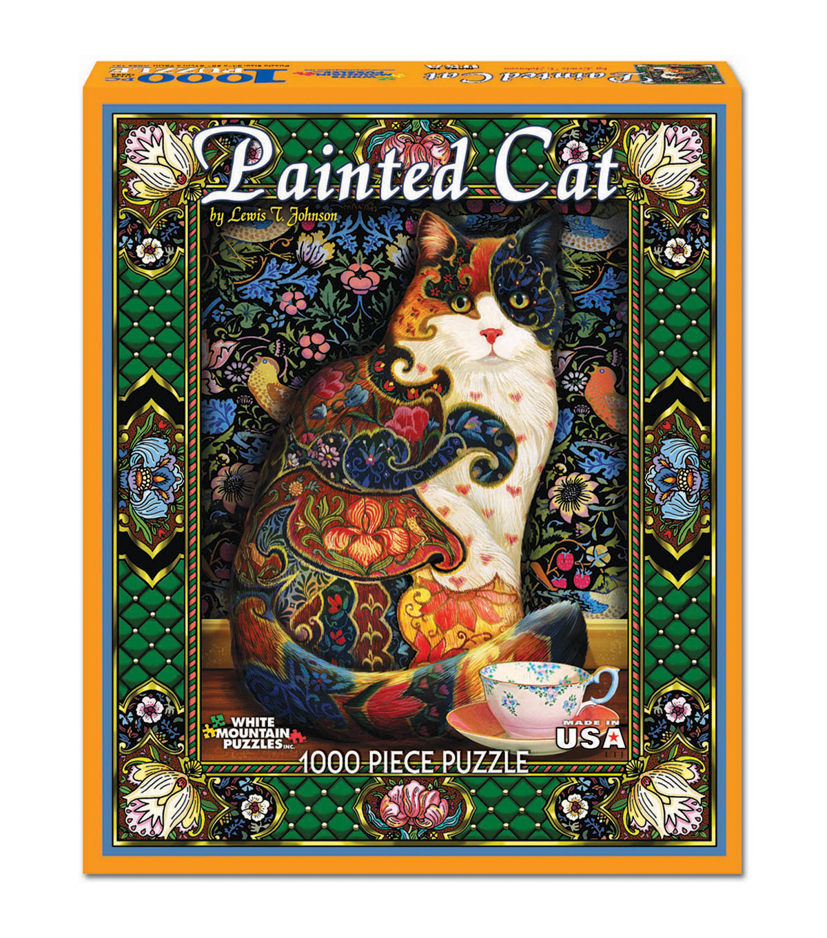 White Mountain Puzzles Jigsaw Puzzle Painted Cat