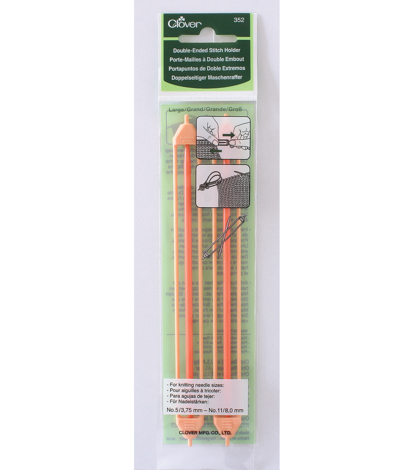 Clover Double Ended Stitch Holder-6-1/2\u0022-Size 5-11