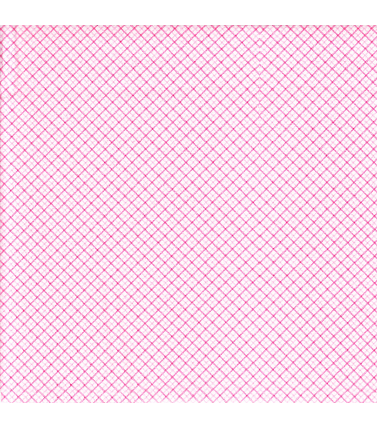 "Snuggle Flannel Fabric 42""-Diagonal Plaid Pink"