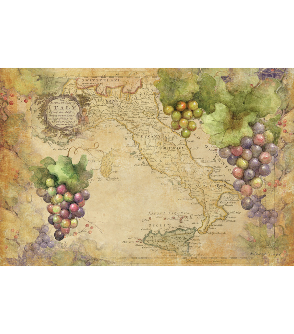 Susan Winget Sanctuary Wine Placemat