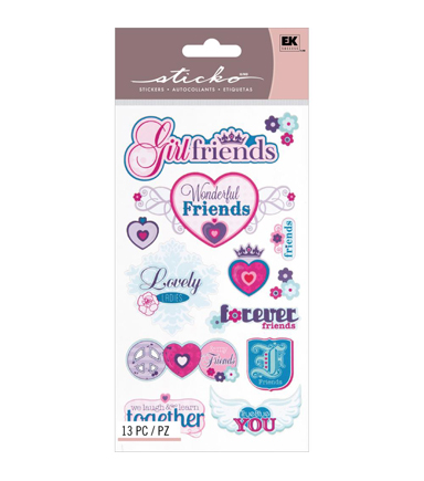 Sticko Classic Stickers Best Girlfriends