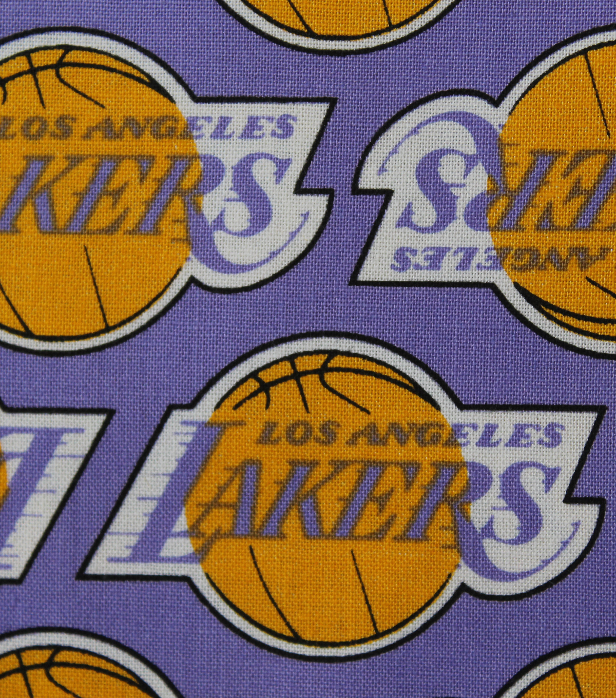 LA Lakers Cotton Fabric 44\u0022-Vintage Logo