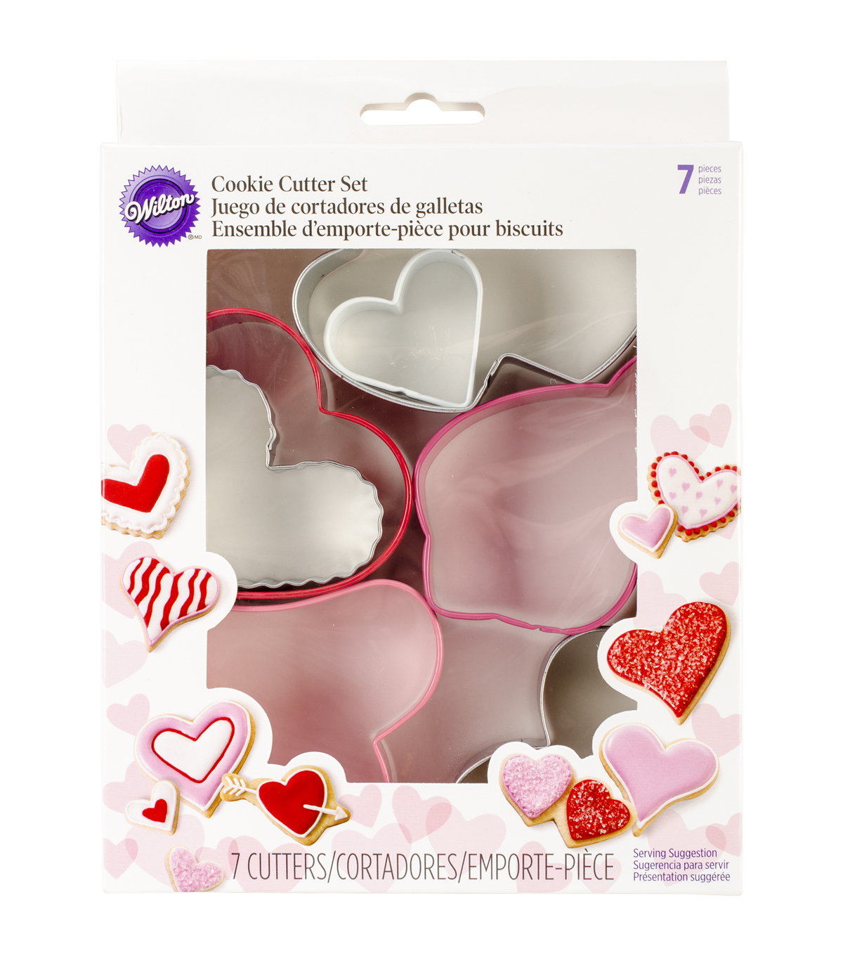 Wilton® Metal Cookie Cutter Set 7/Pkg-Hearts