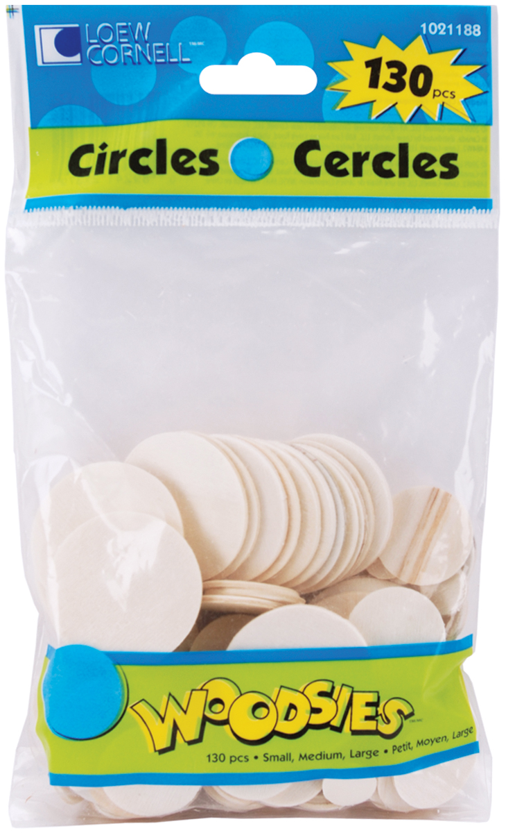 Woodsies Shapes 130/Pkg-Circles