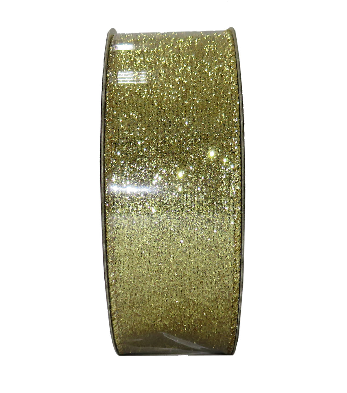Decorative Ribbon 1.5\u0027\u0027 X 15\u0027-Gold Glitter