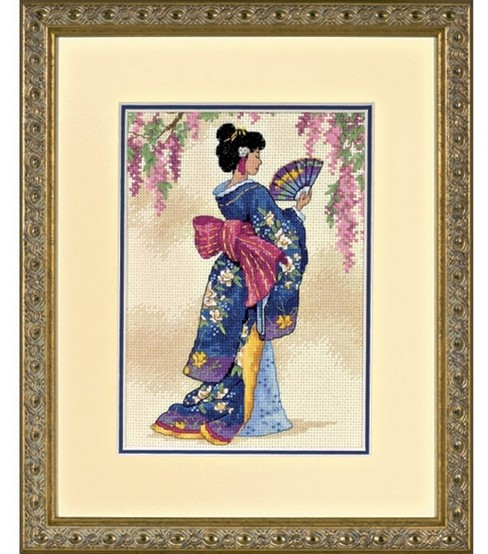 Dimensions Counted Cross Stitch Kit Elegant Geisha Petite