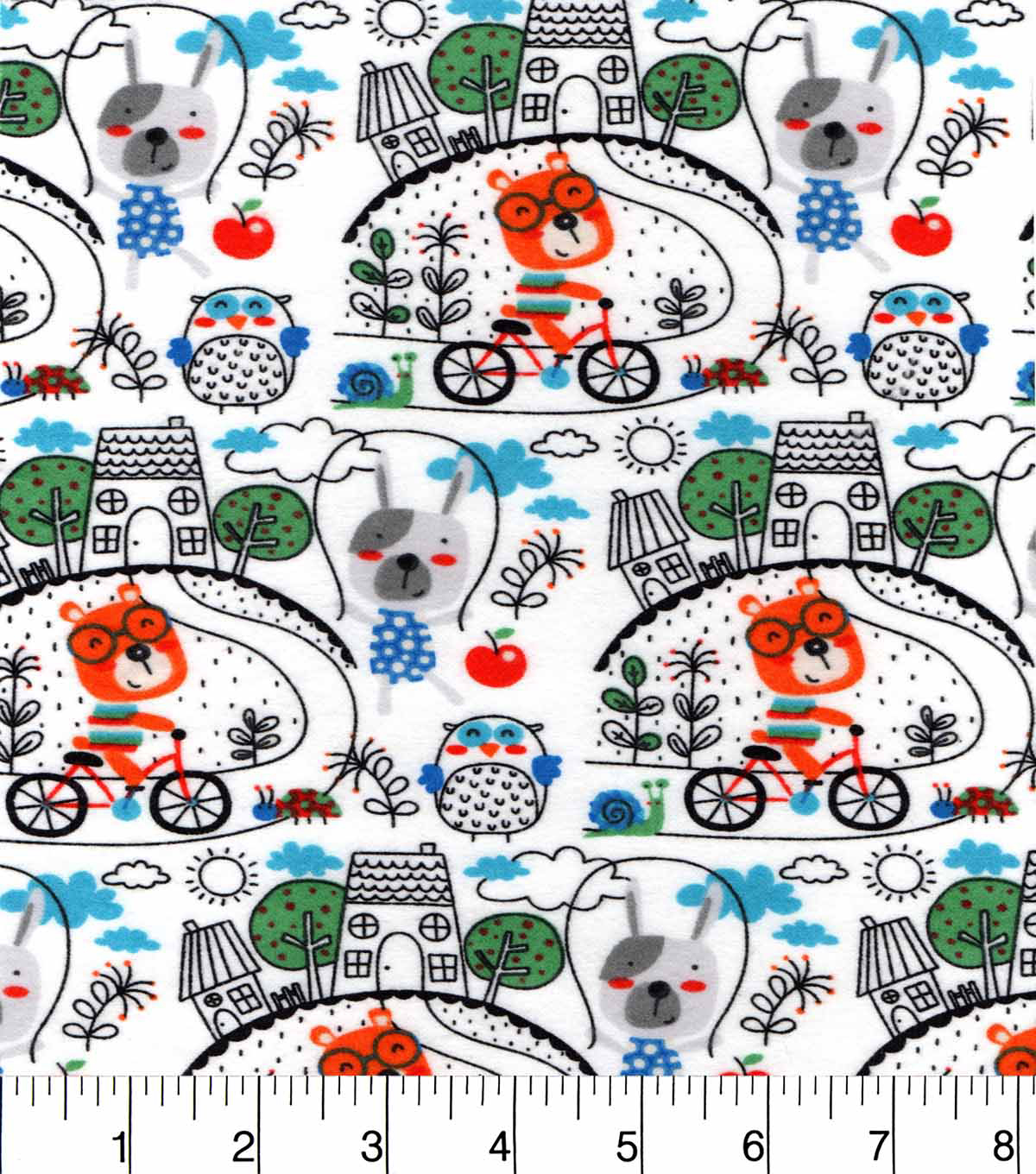 "Snuggle Flannel Fabric 42""-After School Playtime"