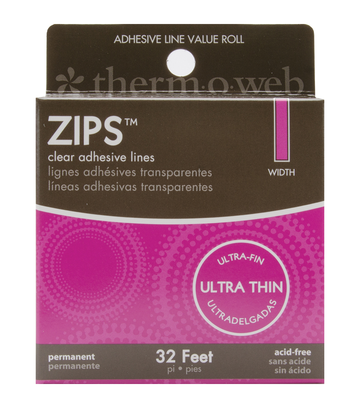 Thermoweb 32\u0027 Zips Clear Adhesive Lines