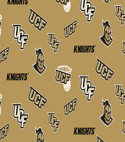 University of Central Florida Knights Cotton Fabric 44\u0022-Toss