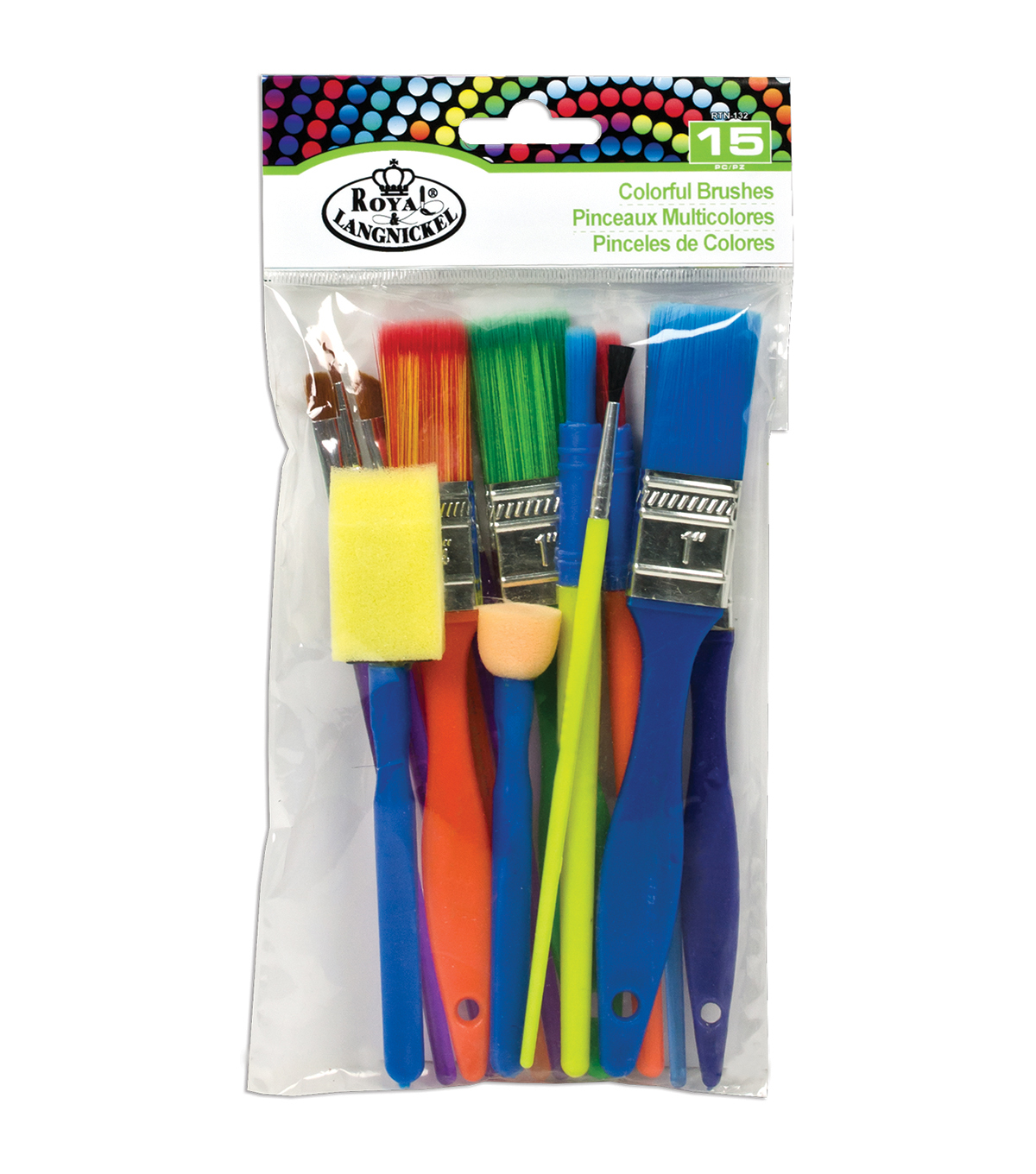 Royal Langnickel 15ct Colorful Brush Set