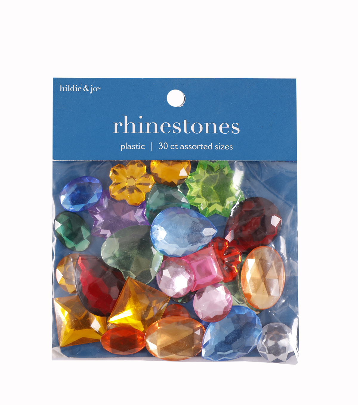 Darice Craft Designer Assorted Shape Gemstones-22gr/Multi
