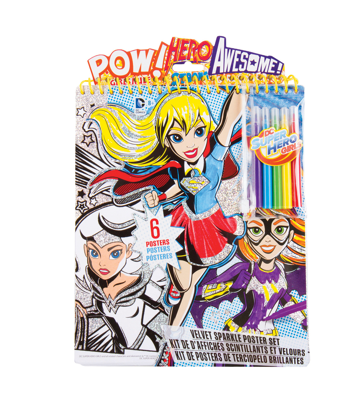 DC Comics Super Hero Girls Velvet Sparkle Poster Set