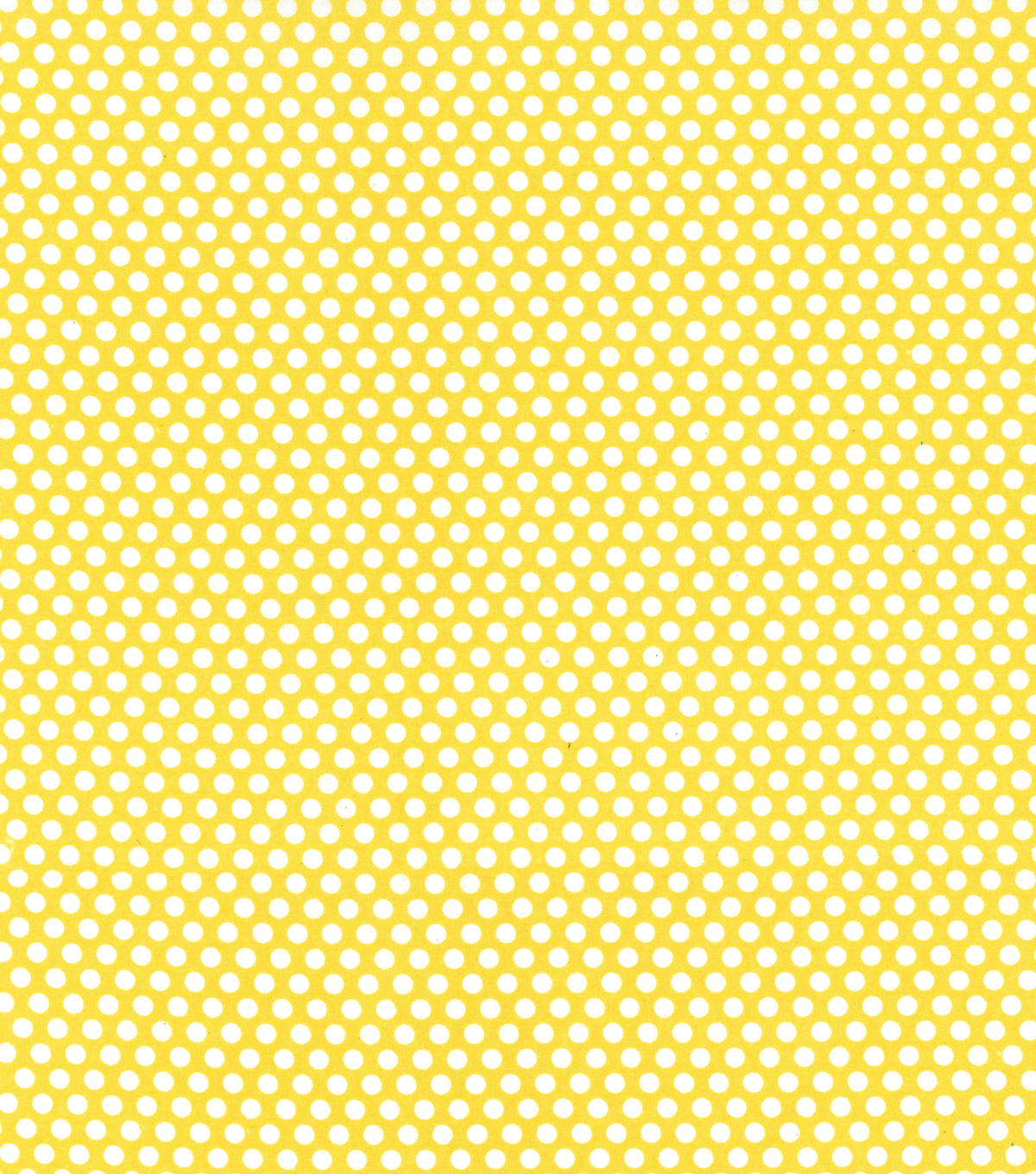 Made In America Cotton Fabric 44\u0027\u0027-Dots on Yellow