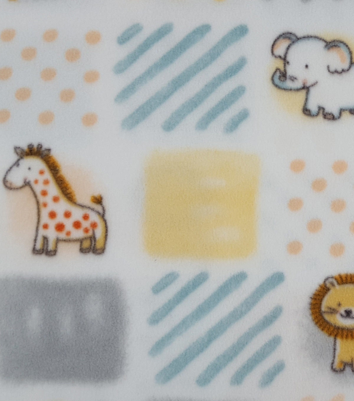 Nursery Fleece Fabric 59\u0022-Safari Patchwork