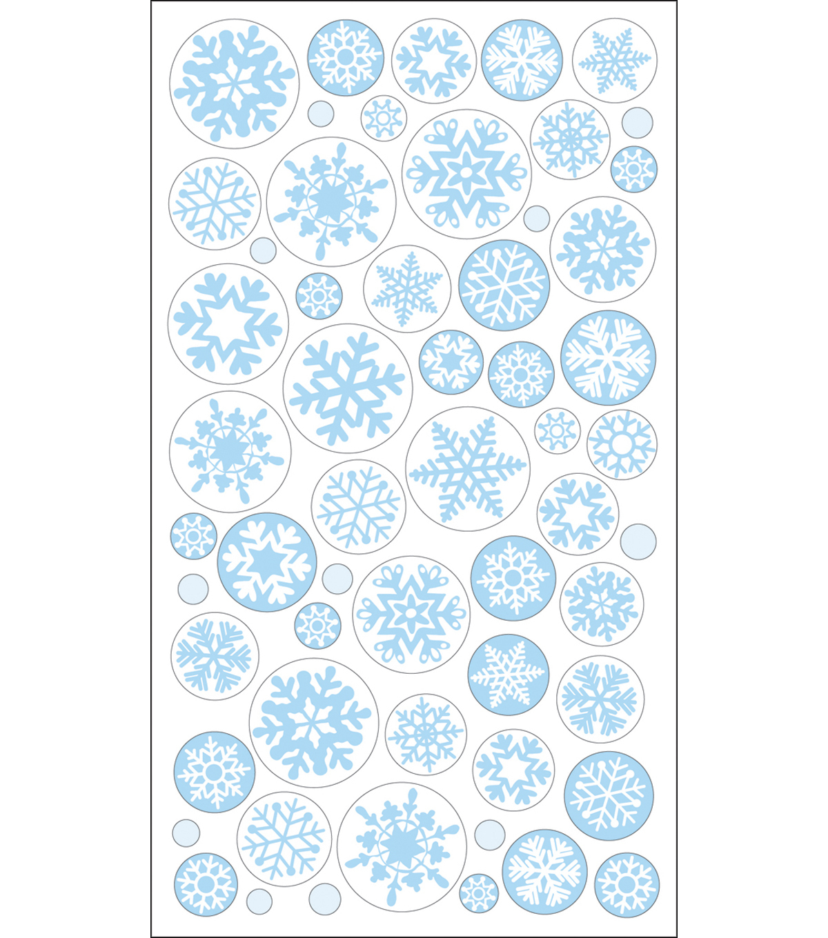 EK Success Sparkler Classic Stickers-Icy Snowflakes
