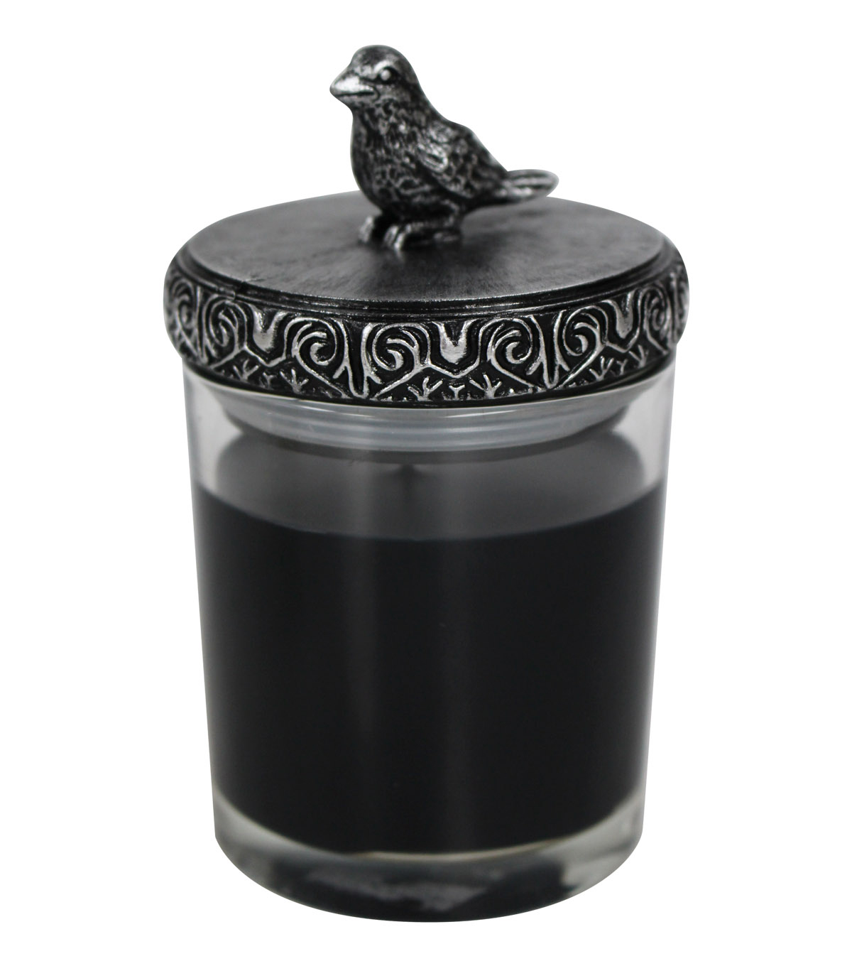 Maker's Halloween Crow Lid Jar Candle-Black