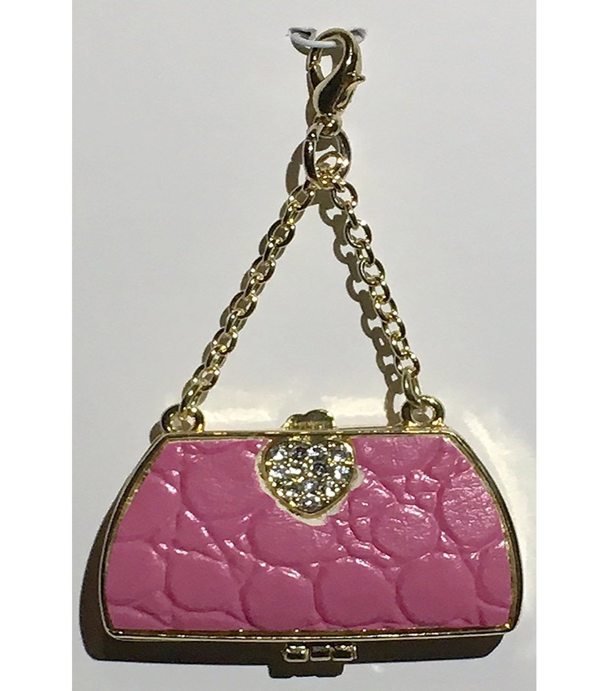 Clip on Purse-Pink & Gold