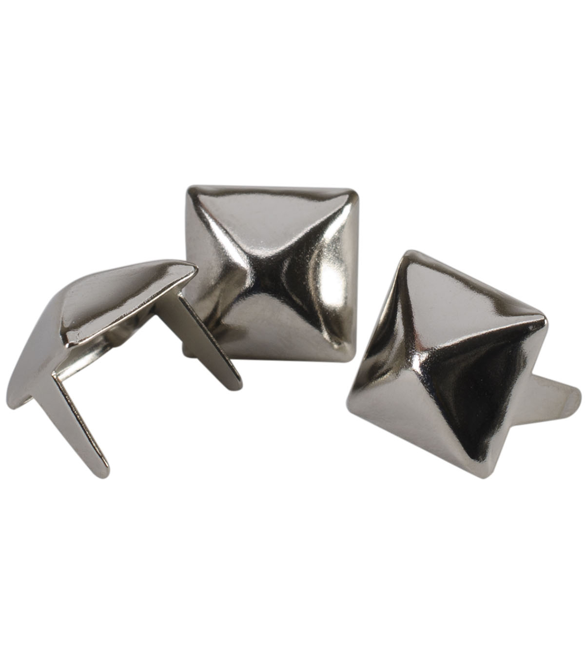Antique Nickel Plated Pyramid Spots