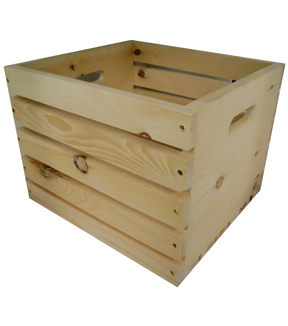 Rustic Milk Crate