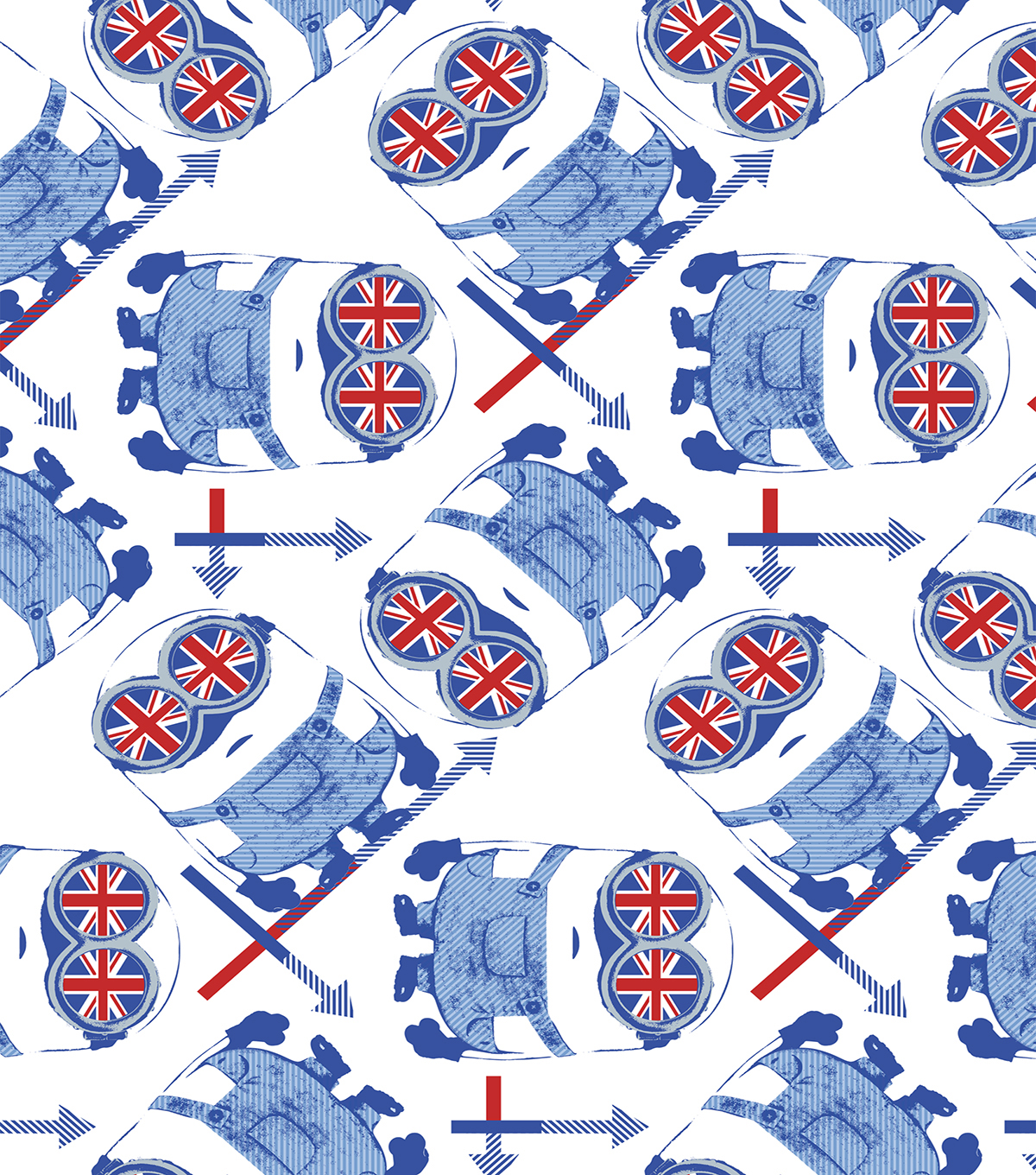 "Minion Cotton Fabric 44""-British Google"