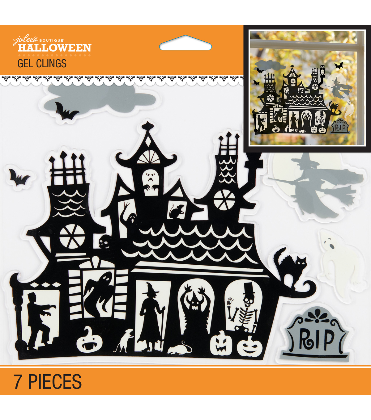 Jolee's Boutique Halloween Haunted House Gel Clings