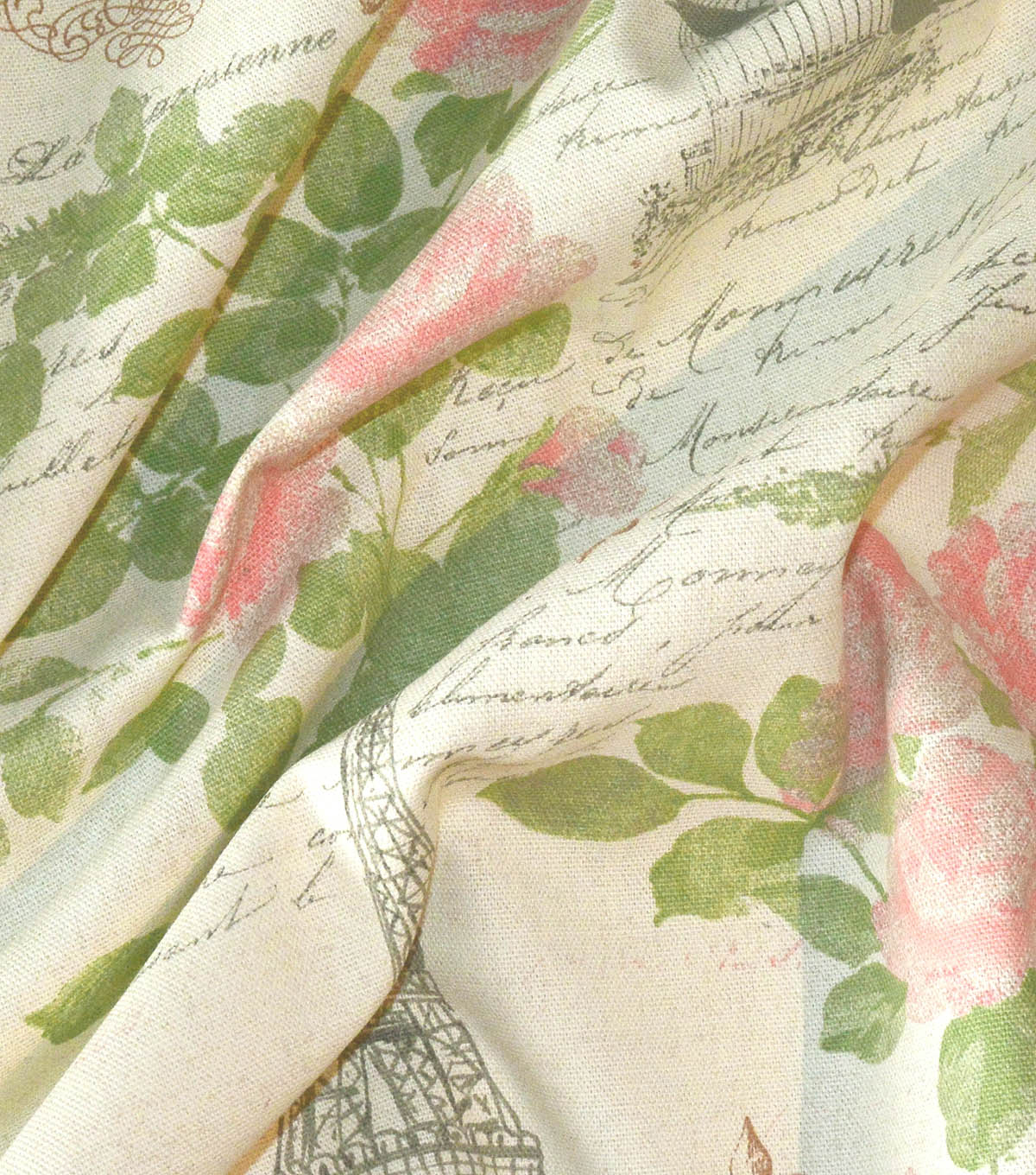 Home Essentials Paris Print Fabric 45\u0022-Rose Blossom