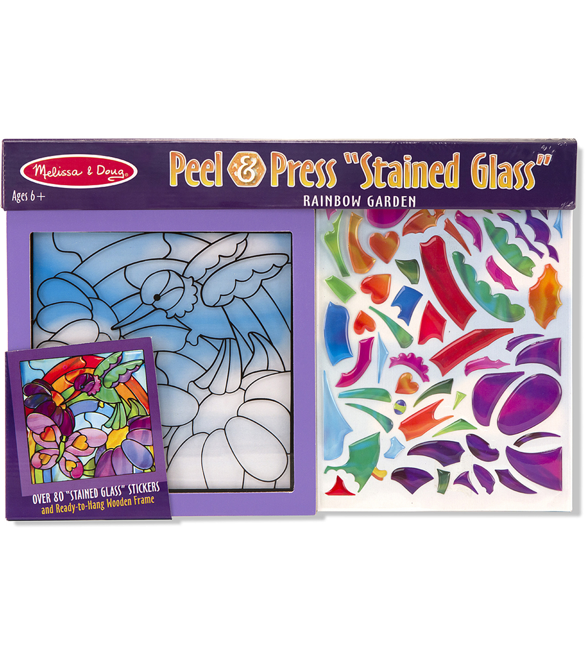 Melissa & Doug® Peel & Press Stained Glass Art Kit-Rainbow Garden