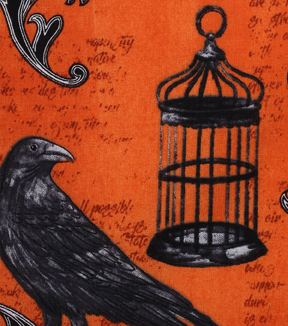 Halloween Cotton Fabric 43\u0022-Bewitching Crow