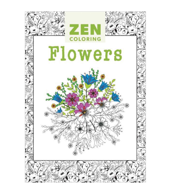 Adult Coloring Book Guild Of Master Craftsman Zen Flowers