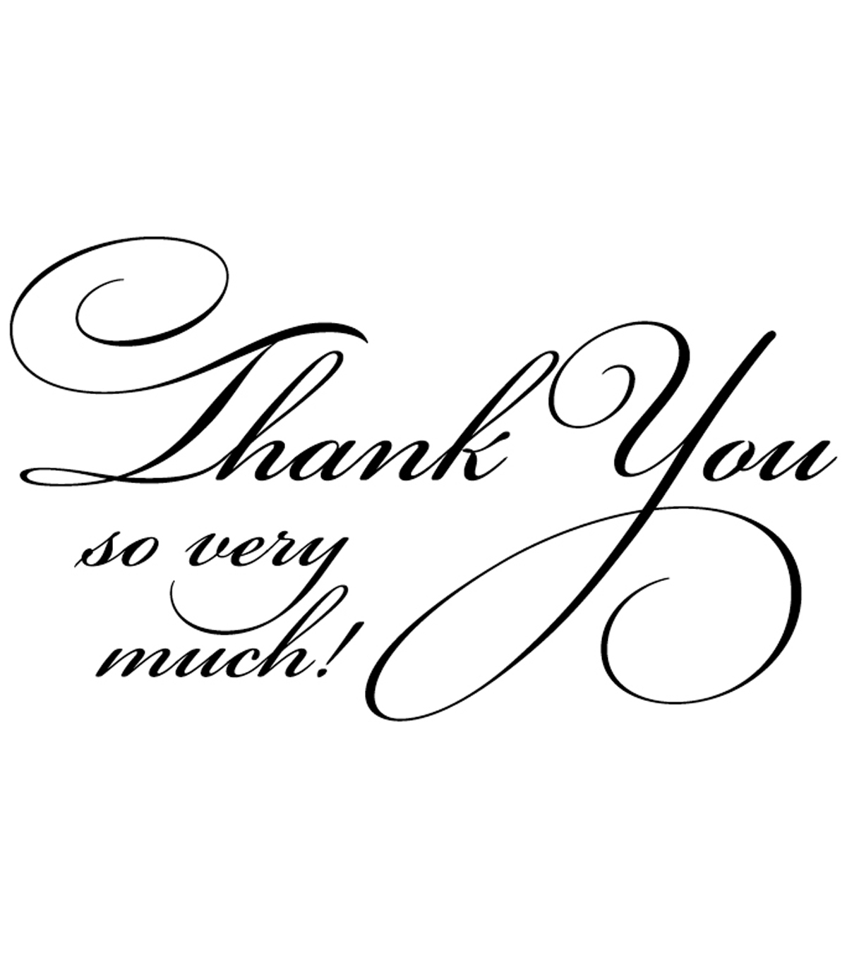 Penny Black Rubber Stamp 1.75\u0022X2.5\u0022-Flourish Thank You