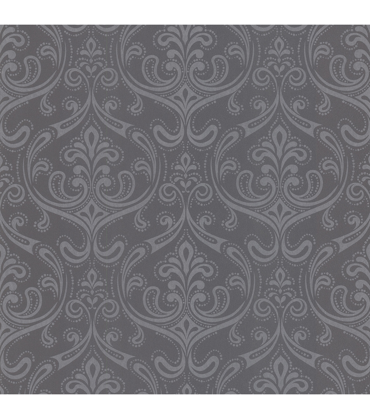 Anastaise Grey Ogee Damask Wallpaper Sample