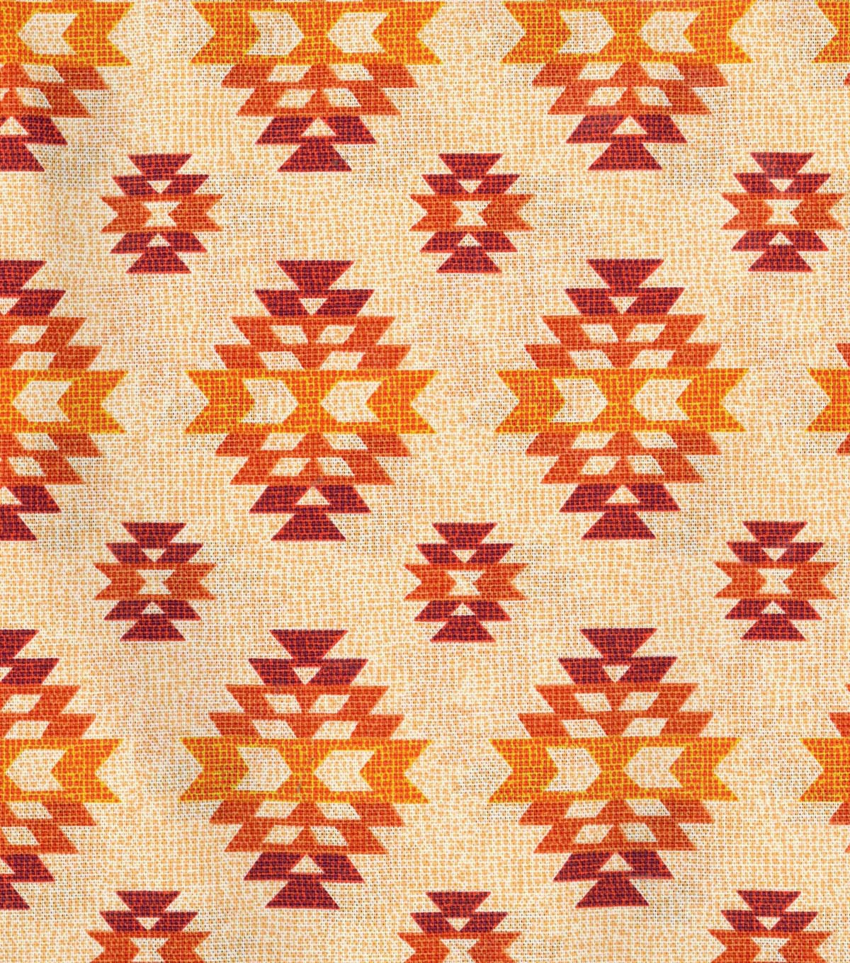 "Home Essentials 45"" Fabric-Pink/Orange Textured Diamond"