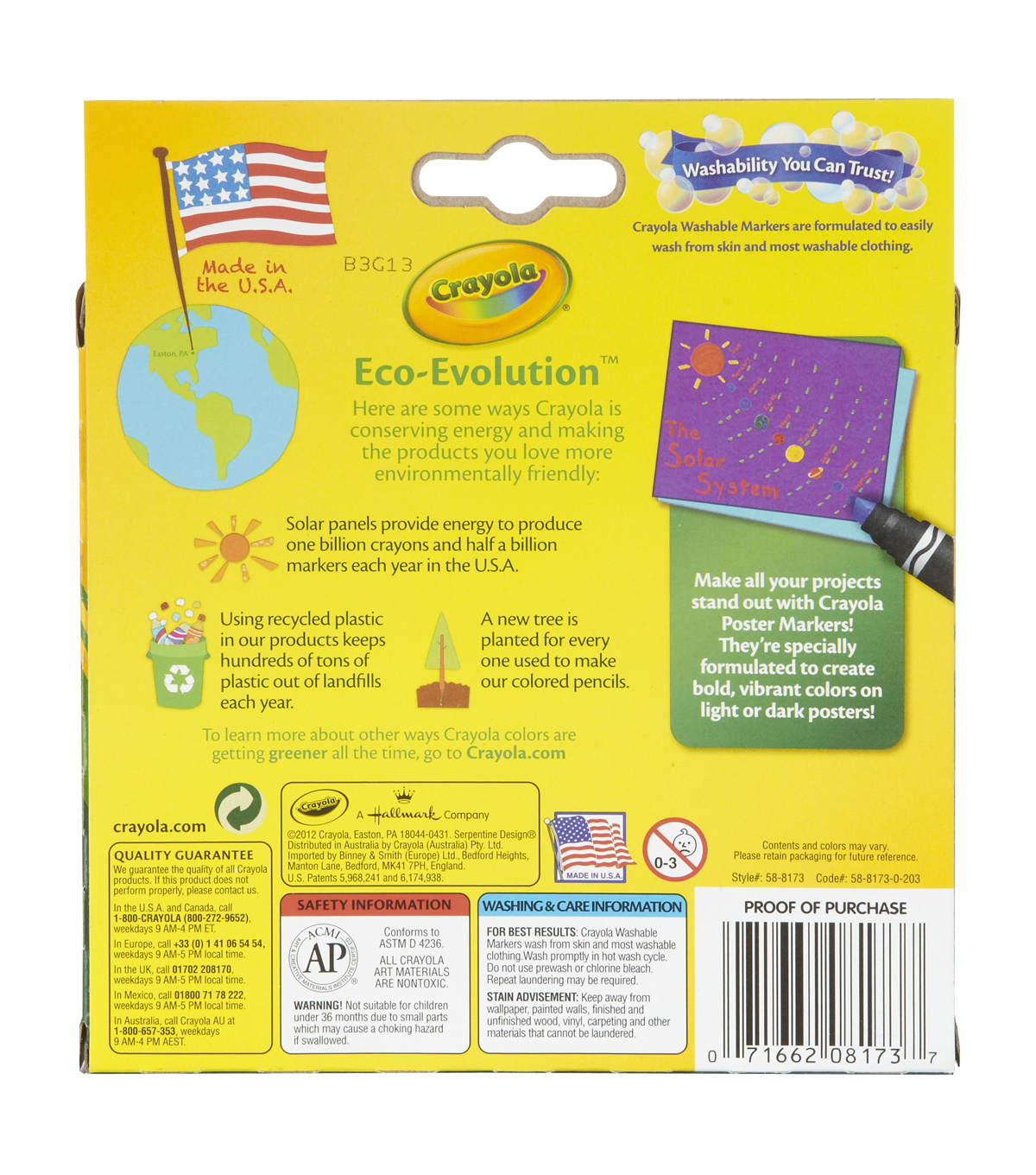 Crayola Poster Markers 8/Pkg-