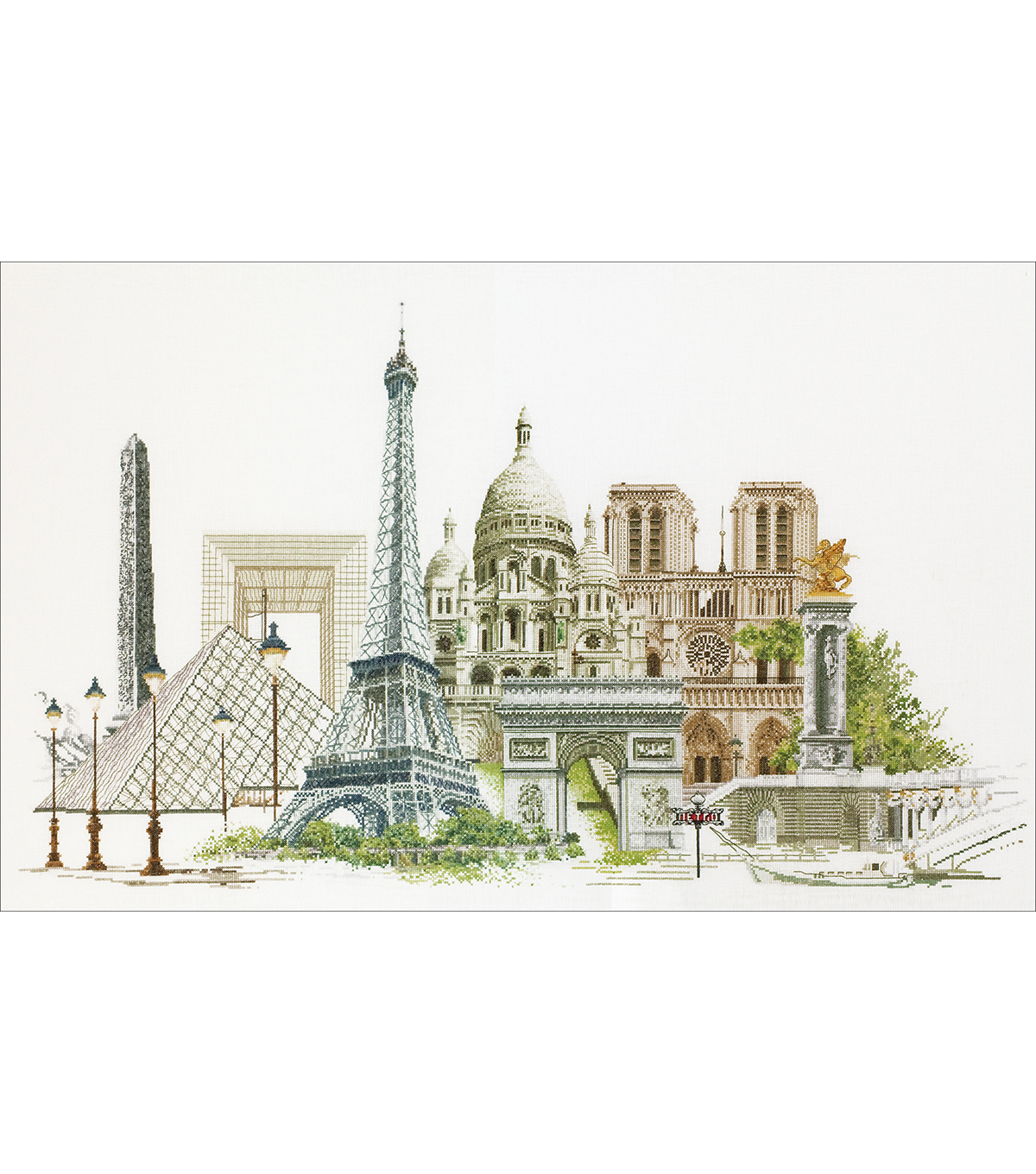 Thea Gouverneur Paris On Aida Counted Cross Stitch Kit