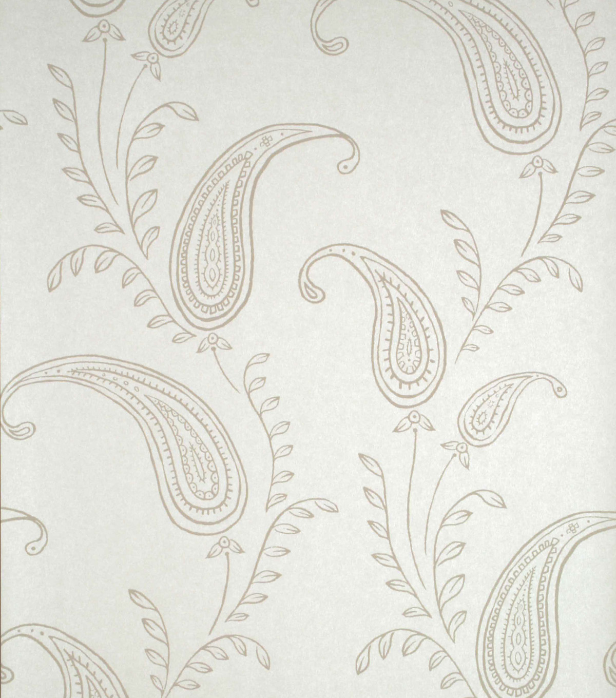 Majidah Cream Paisley Wallpaper Sample