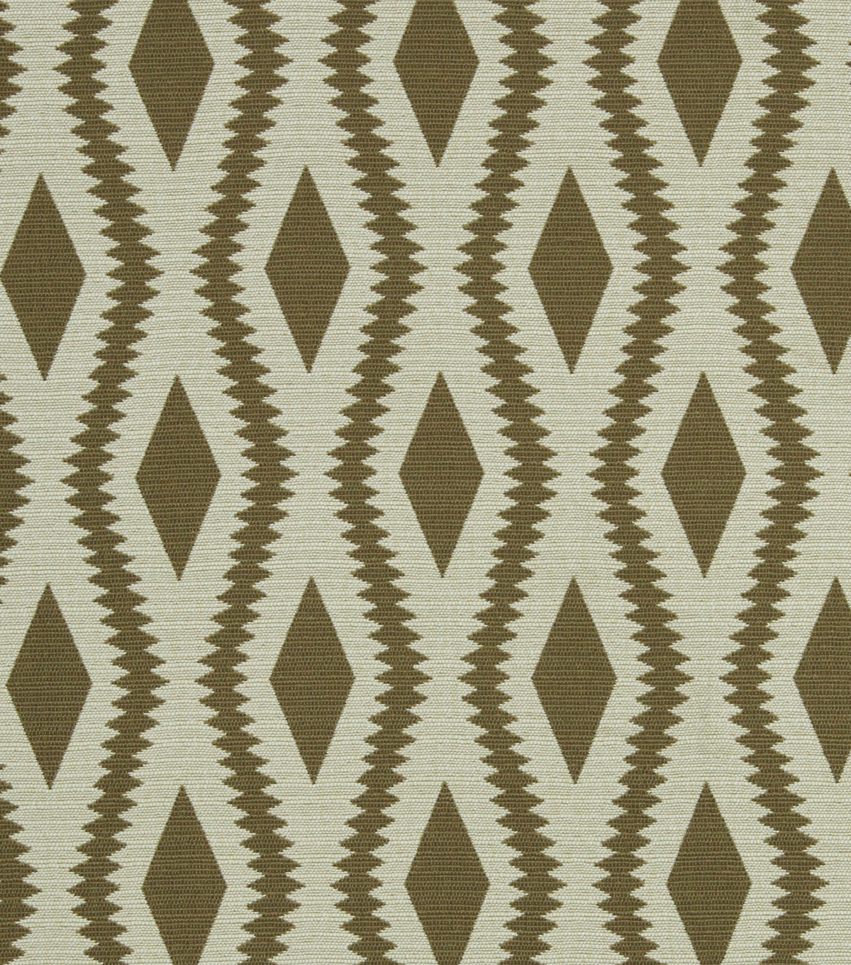 "Home Decor 8""x8"" Fabric Swatch-Robert Allen Frontier Ogee Taupe"