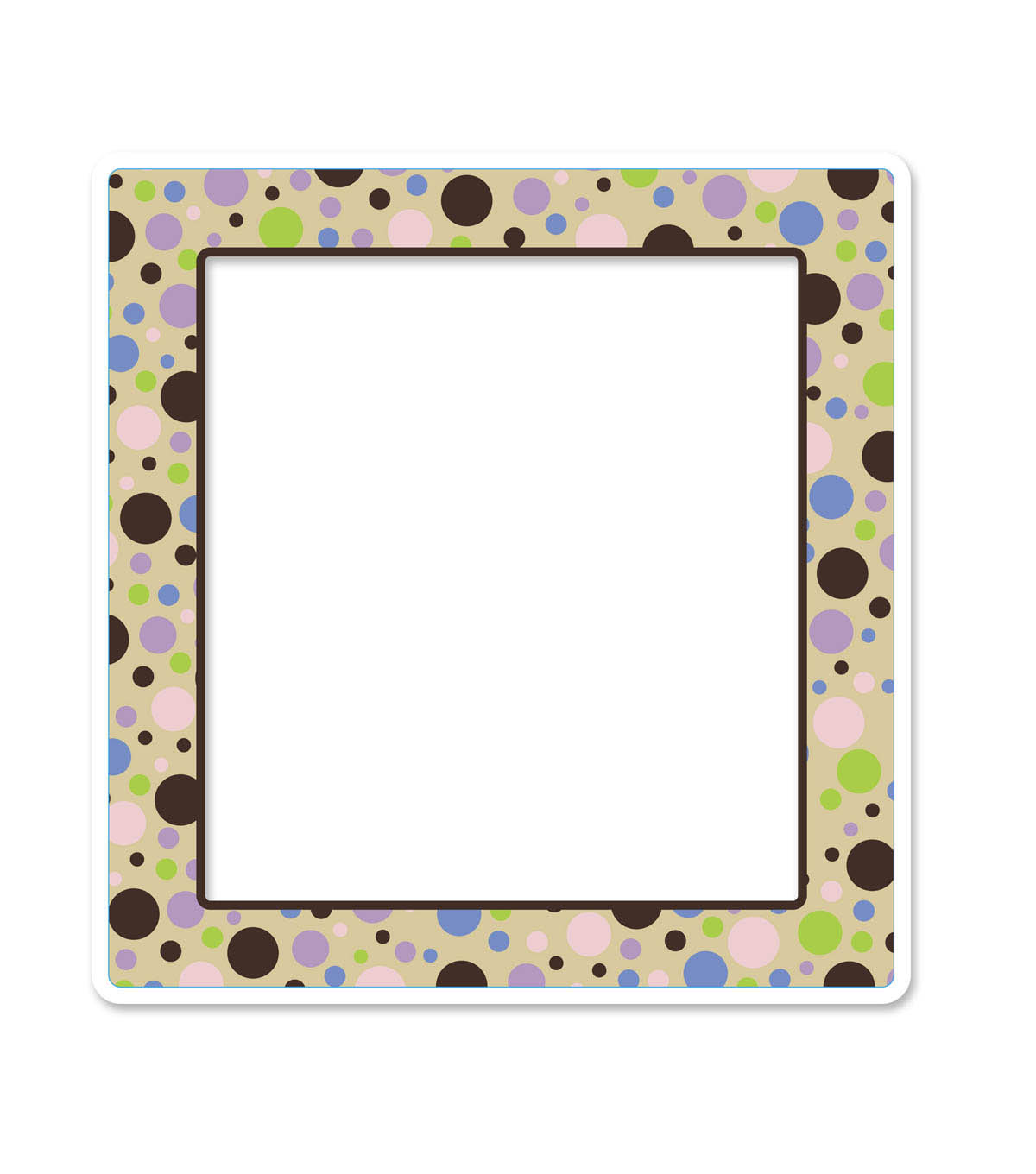 Busy Kids Learning Large Accents-Polka Dot Browns