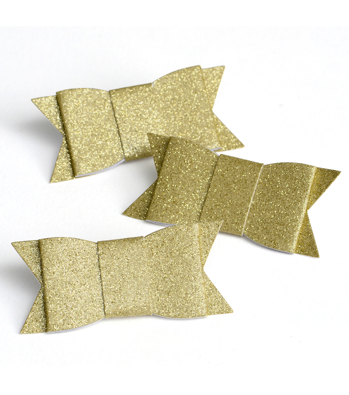 Save The Date 12 Pack Glitter Adhesive Bows-Gold