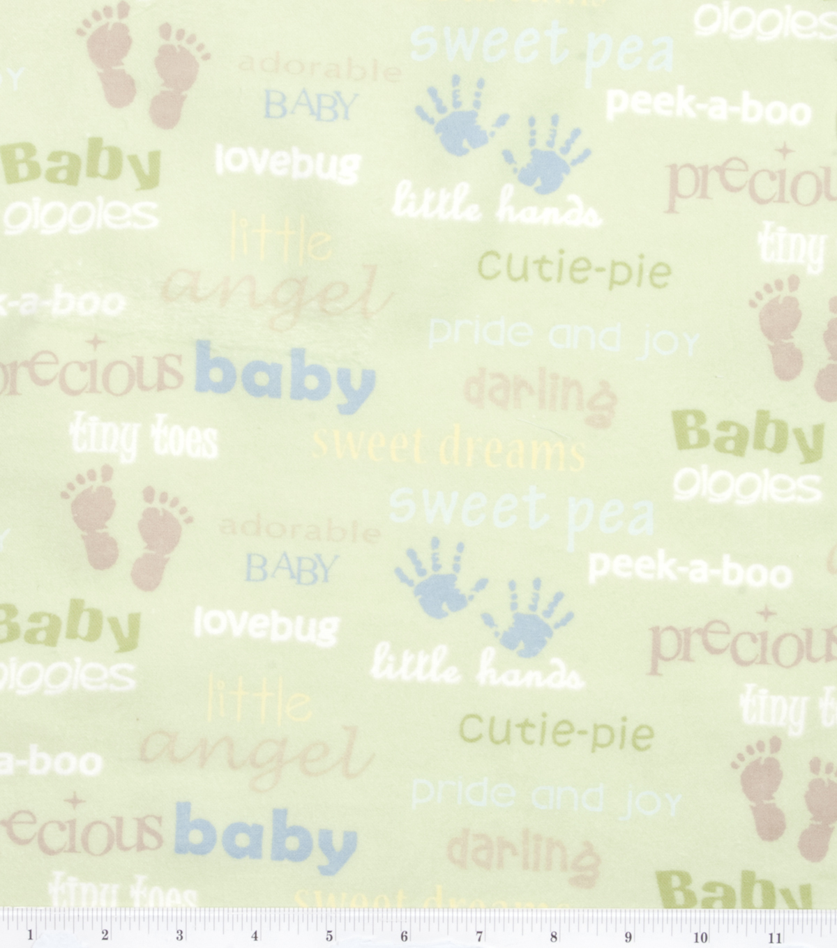 Nursery Flannel Fabric 42\u0022-Oh Baby Words