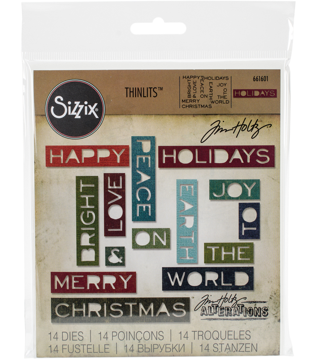 Sizzix Thinlits Dies-Holiday Words #2