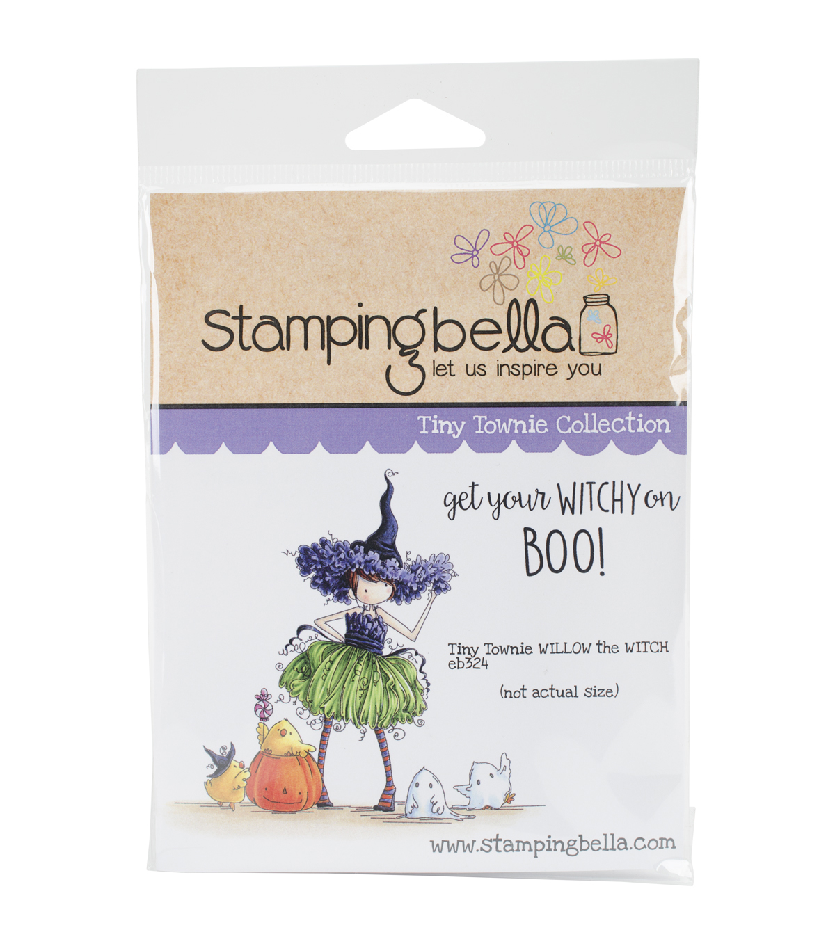 Stamping Bella Cling Stamp-Tiny Townie Willow The Witch