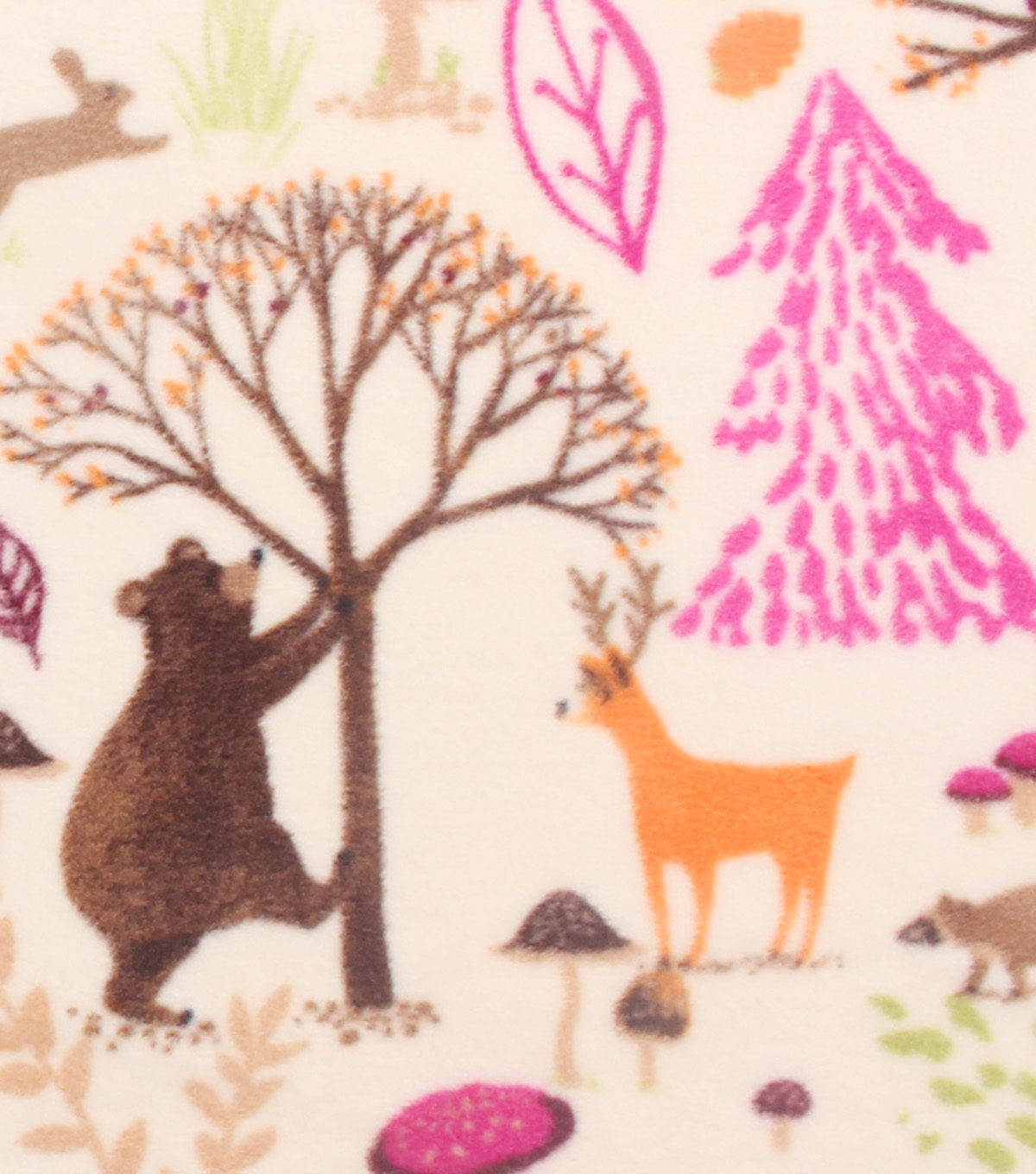 Anti-Pill Fleece Fabric 59\u0022-Watercolor Woodland