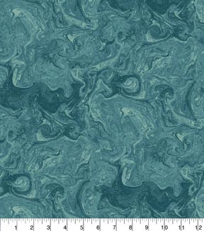 Keepsake Calico™ Cotton Fabric 43\u0022-Teal Oil Slick