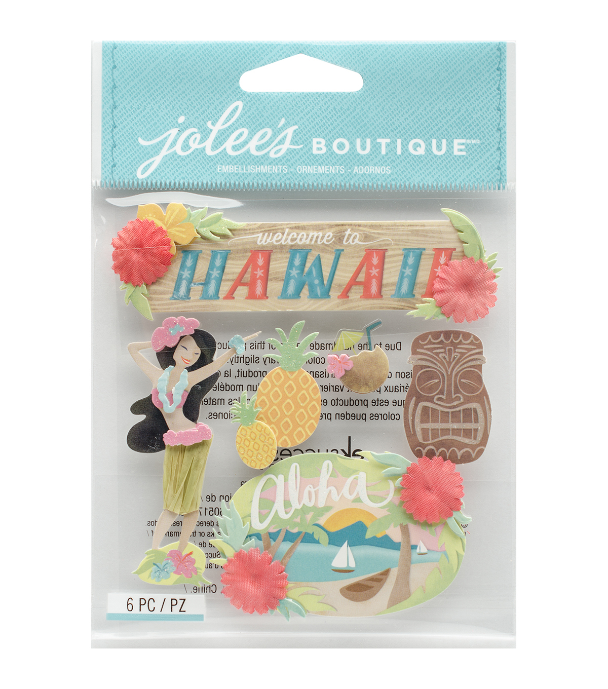 Jolee\u0027s Boutique® 6 Pack Dimensional Stickers-Hawaii