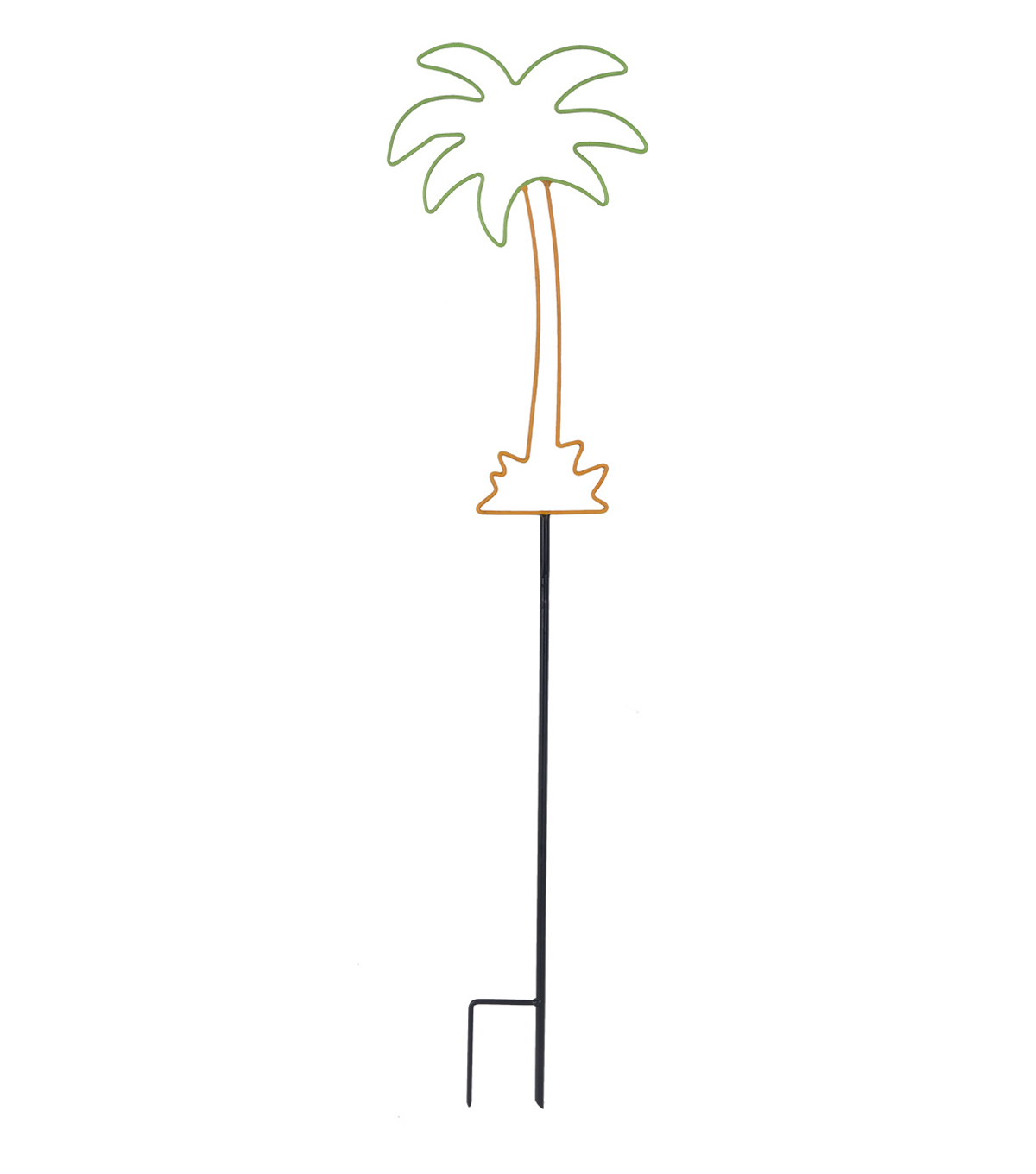 Summer Sol 36\u0027\u0027 Metal Palm Tree Yard Stake