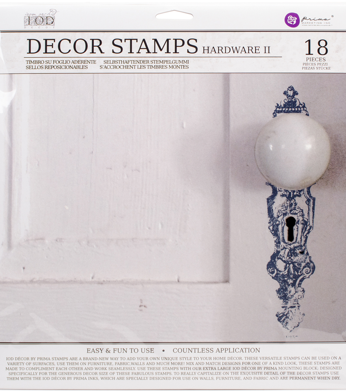 Iron Orchid Designs Decor Clear Stamps 12\u0022X12\u0022-Hardware II
