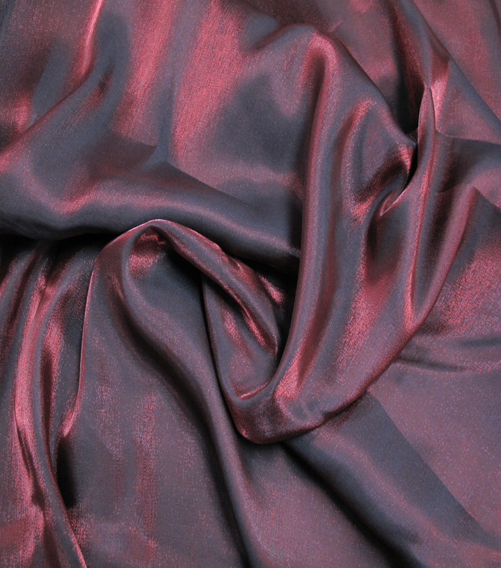 Casa Embellish Fabric-Liquid Woven Tango Red