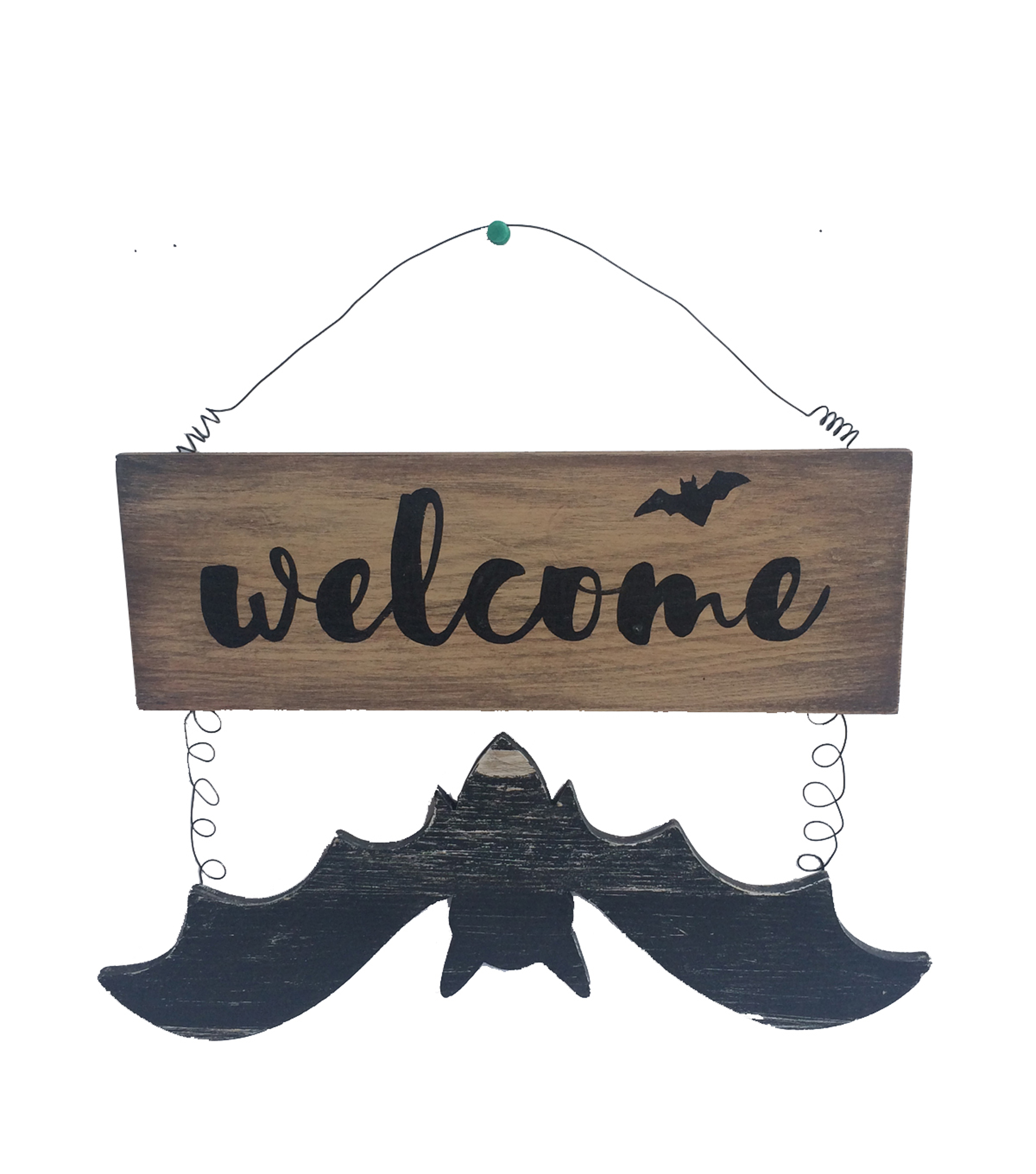 Maker\u0027s Halloween Bat Wall Decor-Welcome