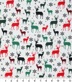 Christmas Cotton Fabric 43\u0022-Metallic Snowflakes