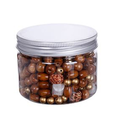 hildie & jo™ Assorted Fashion Mixed Beads in Plastic Jar-Gold